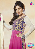 NS10589 Magenta and Ivory Anarkali Suit