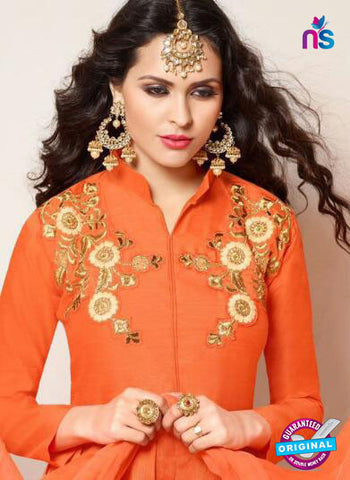 Zeeya 1116 Orange Indo Western Suit