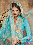 Omtex 1117 Blue Color Georgette Designer Suit