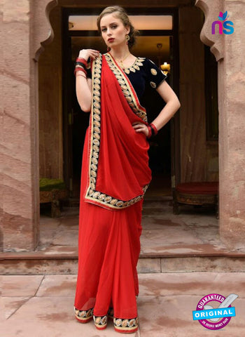 Reflection 1118 Red Party Wear Saree