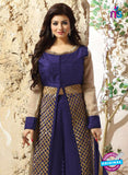 SC 12341 Blue and Golden Pure Silk Party Wear Plazzo Suit Online