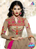 Fiona 11203 Beige And Magenta Straight Suit Online