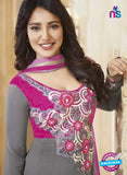 NS10592 Gray and Magenta Anarkali Suit
