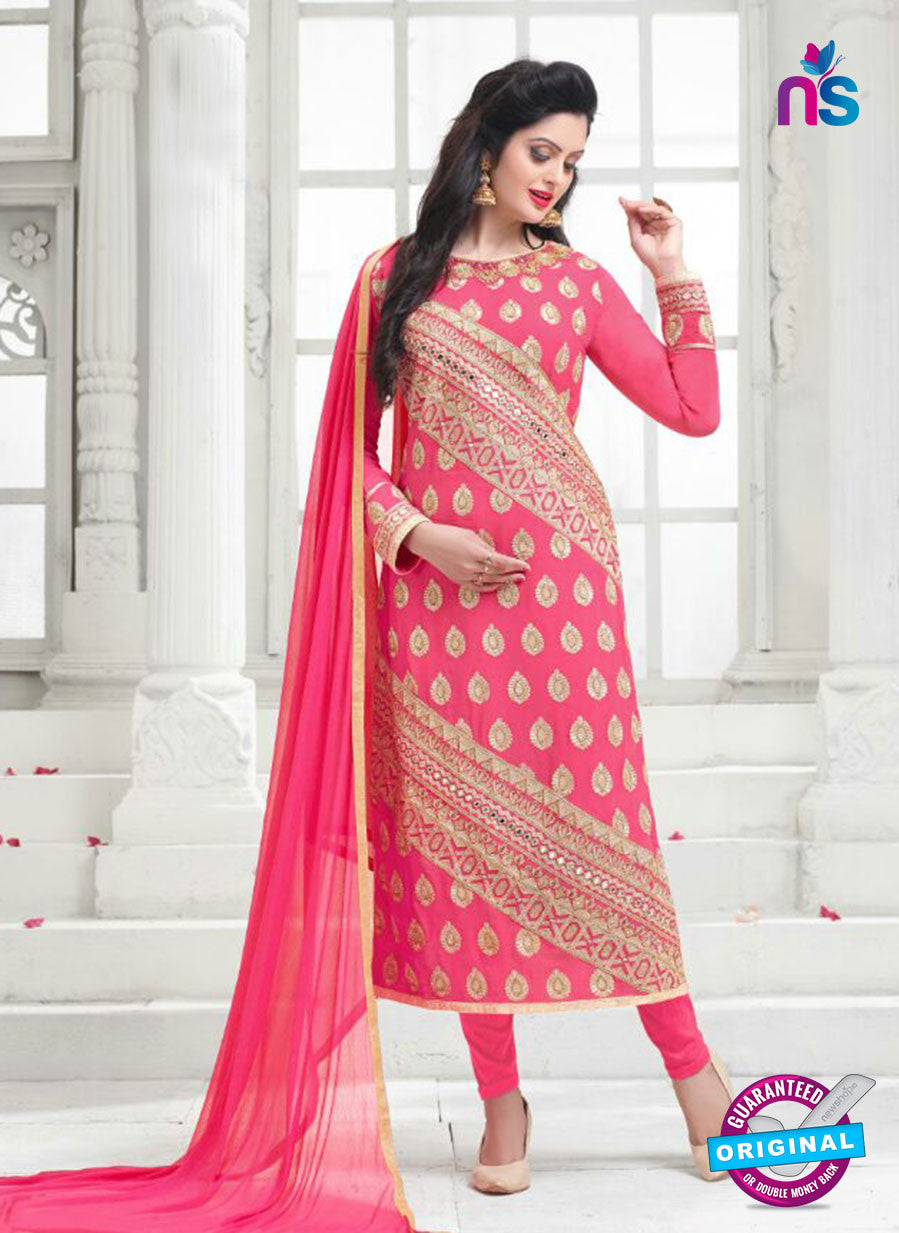 SC 14158 Pink Faux Georgette Party Wear Suit