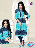 SC 14181 Sky Blue Rayon Fancy Formal Tunic
