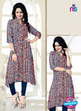 SC 14186 Multicolor Rayon Fancy Formal Tunic