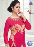 SC 14162 Magenta Faux Georgette Party Wear Suit Online