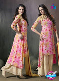 SC 14169 Pink Georgette Plazo Suit