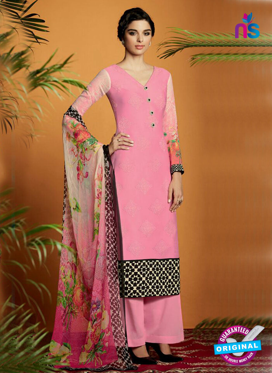 Kimora 112 Pink Cotton Satin Fancy Designer Plazo Suit
