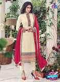 Omtex 1132 Beige Lawn Cotton Party Wear Suit