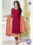 Vinay Fashion 1132 Maroon and Peach Embroidered Georgette Designer Suit