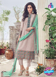 Omtex 1134 Green and Grey Lawn Cotton Party Wear Suit