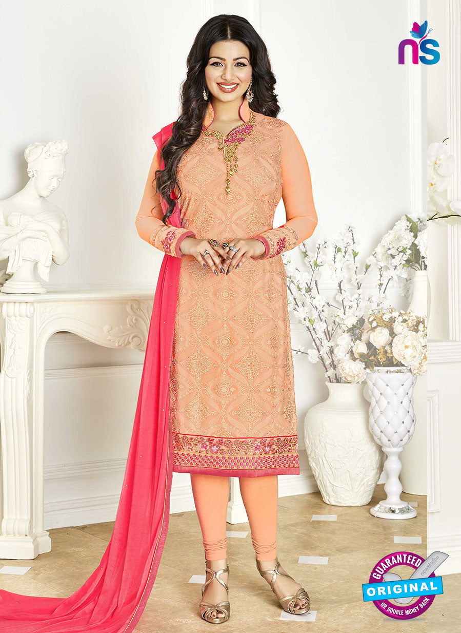 Khwaab Zaaina 1137 Peach Georgette Party Wear Suit
