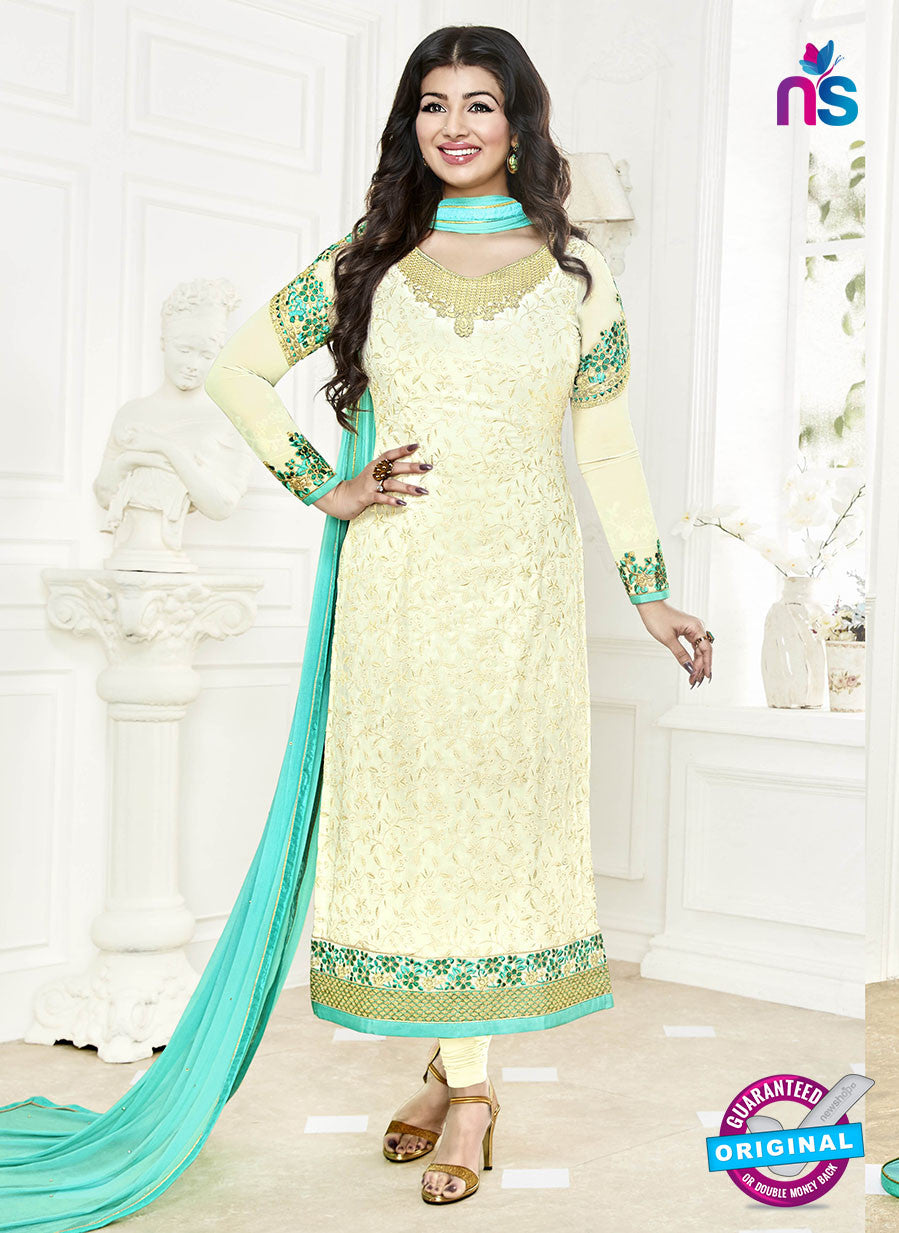 Khwaab Zaaina 1138 Beige Georgette Party Wear Suit