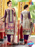 SC 12661 Multicolor and Purple Lawn Cotton Embroidered  Suit
