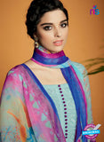 Kimora 113 Sky Blue Cotton Satin Fancy Designer Plazo Suit Online