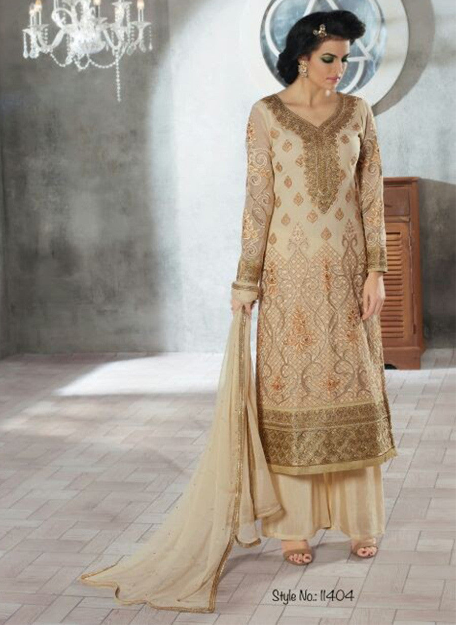 Rivaa 11404 Beige Color Georgette Designer Suit