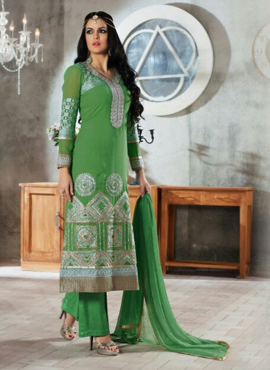 Rivaa 11405 Green Color Georgette Designer Suit