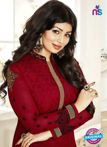 Khwaab Zaaina 1140 Maroon Georgette Party Wear Suit