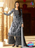 Omtex 1141 - Gray and Black Color Lawn Cotton Designer Suit