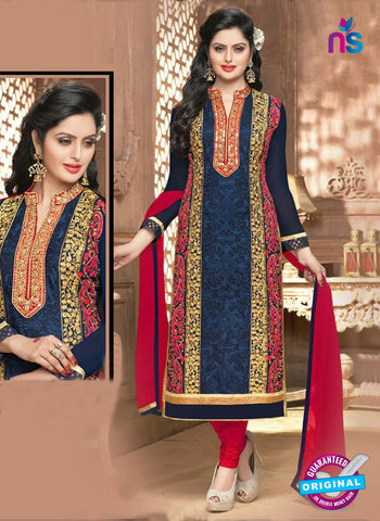 SC 14359 Blue Georgette Designer Straight Suit