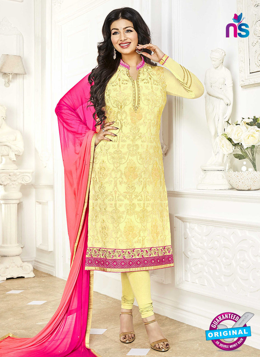 Khwaab Zaaina 1142 Yellow Georgette Party Wear Suit
