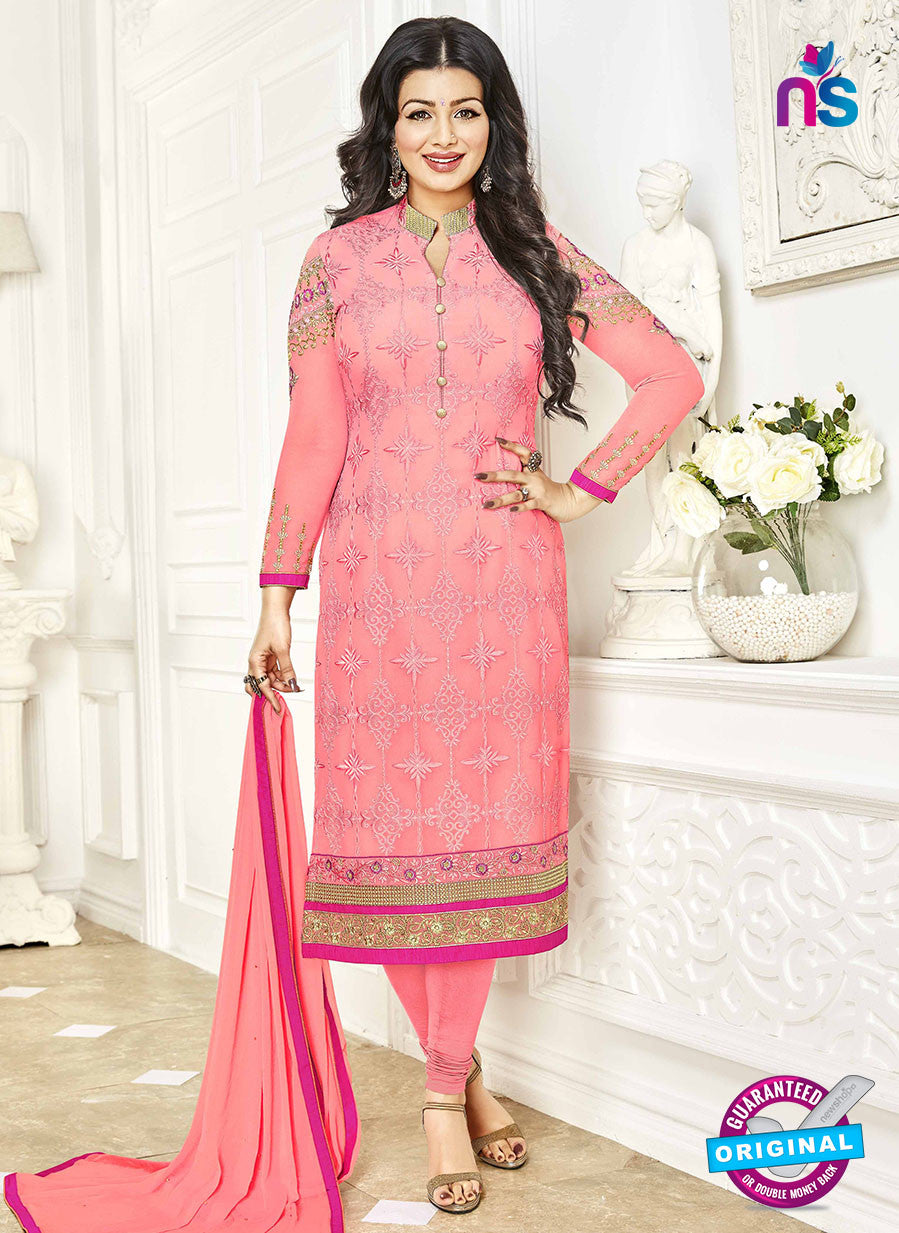Khwaab Zaaina 1143 Peach Georgette Party Wear Suit