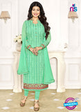 Khwaab Zaaina 1144 Green Georgette Party Wear Suit