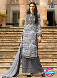 Omtex 1144 - Gray and Black Color Lawn Cotton Designer Suit