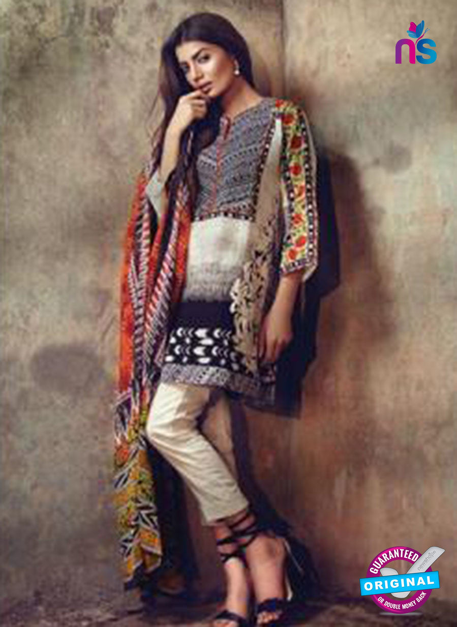 NS11592 B White and Multicolor Mid Summer Wear Designer Suit