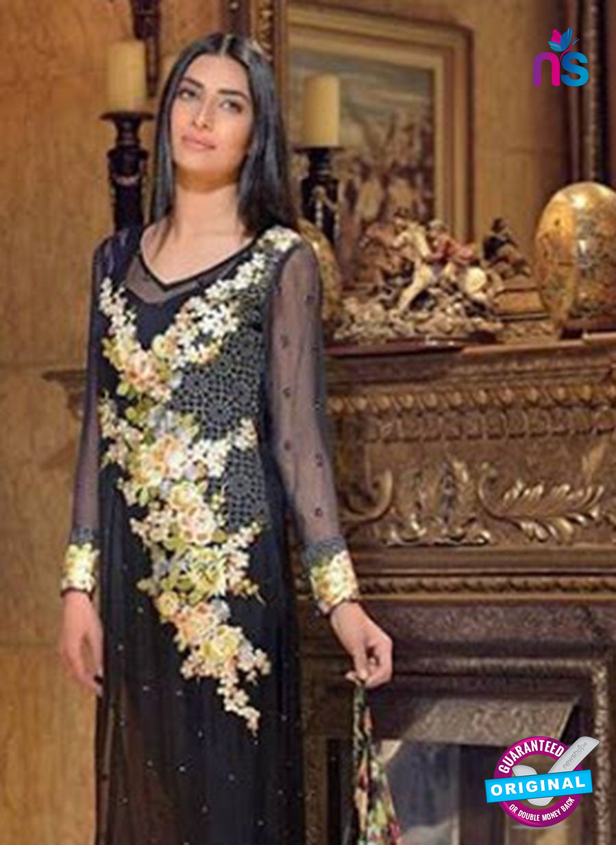 Buy NS11596  Black Color Georgette Designer Suit