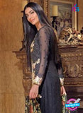 NS11596  Black Color Georgette Designer Suit