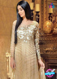 NS11597  Beige Color Georgette Designer Suit