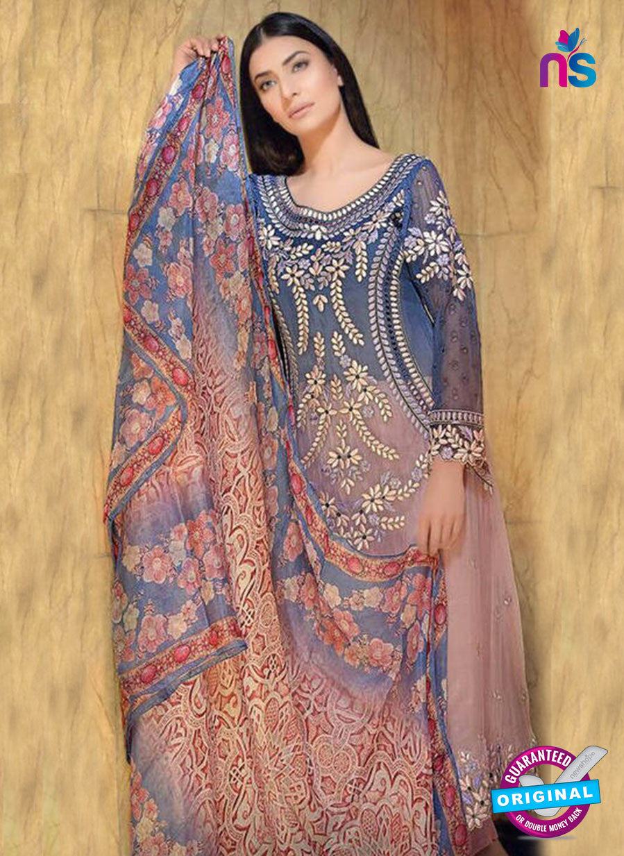 Buy NS11598  Blue & Pink Color Georgette Designer Suit