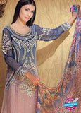 NS11598  Blue & Pink Color Georgette Designer Suit