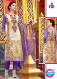 SC 12550 Beige and Purple Digital Printed Lawn Cotton with Embroidered Party Wear Pakistani Suit