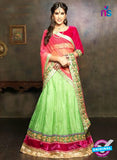 NS11659 Pink & GreenYellow Net Brasso Party Wear Lerhenga Choli