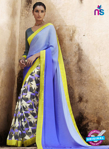 NS11686 Purple and Multicolor Satin Georgette Saree