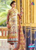 SC 12548 Multicolor and Brown Digital Printed Lawn Cotton with Embroidered Party Wear Pakistani Suit