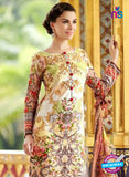 SC 12663 Beige and Brown Lawn Cotton Embroidered  Suit
