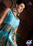 AZ 3597 Sky Blue Japan Satin Indo Western Suit - Indo Western - NEW SHOP