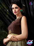AZ 3600 Brown and Green Banglori Silk Indo Western Suit - Indo Western - NEW SHOP