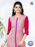 NS11767  Pink and Blue Ryon Kurti