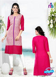 Buy NS11767  Pink and Blue Ryon Kurti Online