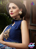 AZ 3603 Blue Banglori Silk Indo Western Suit - Indo Western - NEW SHOP