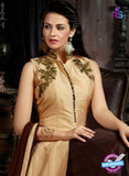 AZ 3604 Beige and Brown Tapata Silk Indo Western Suit - Indo Western - NEW SHOP