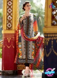 SC 12549 Black and Multicolor Digital Printed Lawn Cotton with Embroidered Party Wear Pakistani Suit