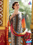 SC 12664 Multicolor and Black Lawn Cotton Embroidered  Suit