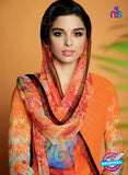 Kimora 117 Orange Cotton Satin Fancy Designer Plazo Suit Online