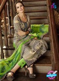 Omtex 1181 Green and Beige Lawn Cotton Suit